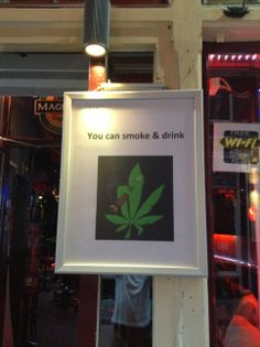 You can smoke and drink here!