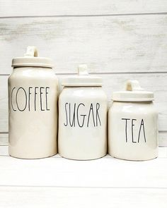 Coffee Canister Pottery #coffeesesh #CoffeeCanister Tea Coffee Sugar Canisters, Coffee Canister, Tea Canisters, Canister Sets, Mud Kitchen, Kitchen Stuff, Kitchen Ideas, Kitchen Decor, Coffee Bar Home