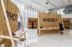 Lost & Found Exhibition, 2014 Installation view. Architecture Portfolio, Architecture Diagrams, Book Expo, Photo Exhibit, Church Design, Architectural Presentation, Architectural Models, Architectural Drawings, Booth Design