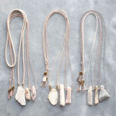 Natural magnesite and Peruvian opal necklaces