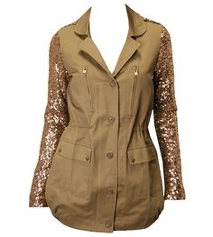 Faubourg Du Temple Olive and Gold Anorak Jacket