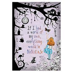 Alice in Wonderland / Mad Hatter Nonsense A4 Art Print Un... https://www.amazon.co.uk/dp/B00R6N7IVS/ref=cm_sw_r_pi_dp_x_vG4yzbBVDYB07