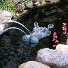 Classic Garden Decor – XoticBrands Home Decor Garden Fountains, Garden Statues, Garden Sculptures, Pond Spitters, Low Maintenance Garden Design, Building A Pond, Natural Pond, Backyard Water Feature, Modern Garden Design