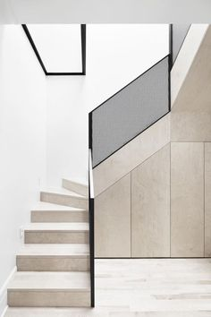 Step Design For Home Stairs Small Es Naturehumaine Architects Mcculloch Residence Interior Stairsinterior Architectureinterior Designstairs How To Build With Modern Staircase - Architectural Wood Staircase Design Clic Modern Stair Handrail, Staircase Railings, Staircase Design, Staircase Ideas, Staircases, Stair Design, Staircase Walls, Metal Stairs, Railing Ideas
