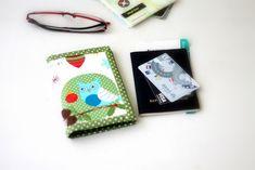 Cute Passports Cover, Handmade custom passport card holder, passport ticket holder, green owl, ready to ship Passport Wallet, Passport Cover, Travel Document Organizer, Kawaii Crafts, Handmade Shop, Etsy Handmade, Cute Owl, Travel Gifts, Card Holder