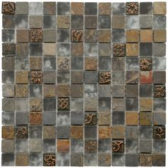SomerTile 12x12-in Basilica 1-in Cologne Glass/Stone Mosaic Tile (Pack of 10)