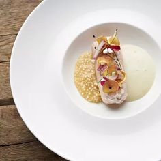 Brook trout with sauerkraut tapioca by Michael Fell | FOUR Magazine