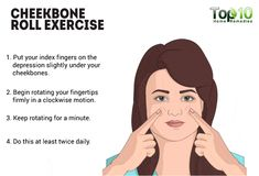how to get rid of chubby cheeks - cheekbone roll exercise Loose Face Fat, Reduce Face Fat, Reduce Weight, Fat Face, Loose Weight, Face Exercises Cheeks, Facial Exercises, Neck Exercises, Facial Yoga