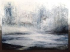 Superbe toile vendue : Winter's coming - acrylic on woodboard, 2018 - Abstraction Abstract Landscape, Abstract Art, Saint Roch, Art Original, Winter Is Coming, Les Oeuvres, Painting, Nature, Landscape Planner