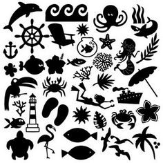#papercraft #svg files for #Silhouette Free SVG   Beach