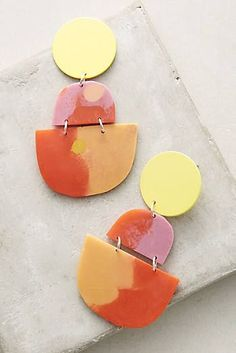 Horizon Earrings | Pastels & Abstract