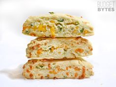 These soft, flakey cheddar scallion scones are a breeze to prepare and make a great side for soups, stews, and chili! Step by step photos.
