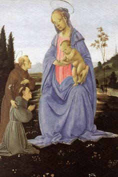 Madonna with Child, St Anthony of Padua and a Friar by LIPPI, Filippino #art