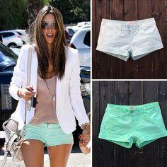 Fashion Spring Summer Women Shorts Low Waist Cotton Hot Pants Denim Shorts Female Short Pants
