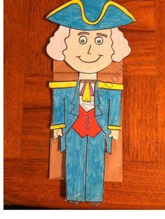 George Washington Paper Bag Puppet product from Melissas-Corner on TeachersNotebook.com