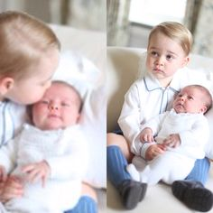 FIRST PUBLIC PORTRAITS OF PRINCE GEORGE & PRINCESS CHARLOTTE PHOTOCRED:MUM KATE @wayn3tips