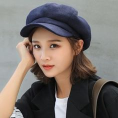 b3987371c60 HT1990 Auutmn Winter Hats for Women Solid Plain Octagonal Newsboy Cap Men Ladies  Casual Wool Hat Winter Beret Women Painter Cap