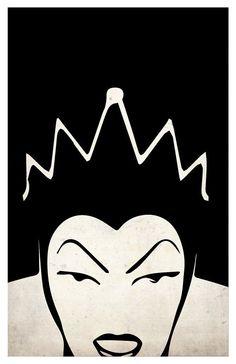 Villains poster set Maleficent The Evil Queen Ursula by PosterGeek