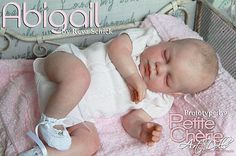 "New Reborn Baby Doll Kit ABIGAIL By Reva Schick @LDC Kits @ 21"" **New Release**"