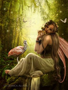 Woodland Fae by EnchantedWhispersArt.deviantart.com on @deviantART
