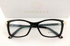 Brand-New-VERSACE-Eyeglasses-Frames-3156-GB1-BLACK-for-Women-100-Authentic