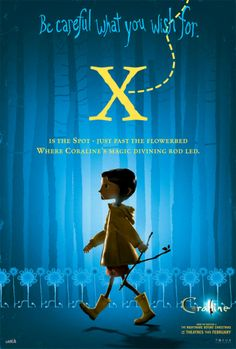 .coraline alphabet posters X is for The Spot