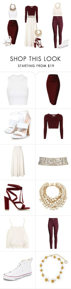 """""""Untitled #68"""" by hien-anhhs on Polyvore featuring Topshop, Temperley London, Gianvito Rossi, Kate Spade, Swell, H&M, Converse, Dolce&Gabbana, women's clothing and women's fashion"""
