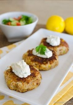 Slimming Eats Crab Cakes - Slimming World and Weight Watchers friendly