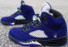 60963d99d223 Nike Air Jordan Custom Black and Purple (Grapes) Northwestern University  Customs