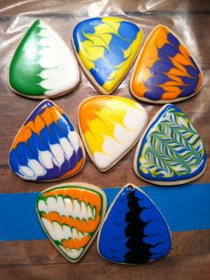 Guitar Pick Cookies