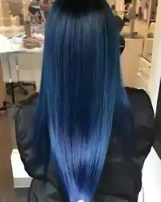 Double tap ❤️ if you think this is your or 😍😘⠀ . Turquoise Hair Color, Hair Dye Colors, Hair Color For Black Hair, Green Hair, Pelo Color Azul, Hairstyle Tutorial, Dark Blue Hair, Pretty Hair Color, Rides Front