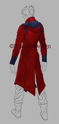 Volante Design | The Demon Killer: Back View. A concept for a jacket to wear around every day based on Dante's new and old DMC designs.