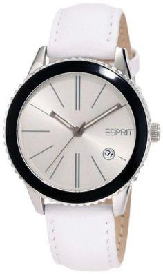 Esprit Marin Halo White ES105062002 - Wristwatch da Women, Watchband in Leather color White -