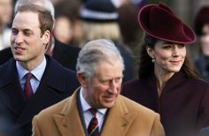 Prince William, Prince Charles and Catherine, Duchess of Cambridge arrive for a Christmas Day service at St Mary Magdalene Church on the Royal estate at Sandringham, Norfolk. REUTERS/Suzanne Plunkett