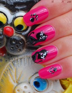 kitty nails...cute!