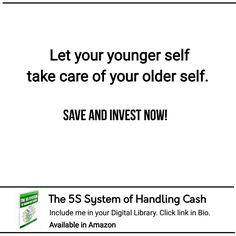 Let your younger self take care of your older self Take Care Of Yourself, Finance, Investing, Let It Be, Economics