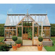 Gabriel Ash Portico Series Greenhouse - Wood Frame Greenhouses