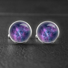 Galaxy cufflinks, Customize your own cufflinks with image you like.