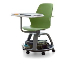 Node: IDEO and steelcase teamed up to design node, a school desk that combines storage, a chair and a writing