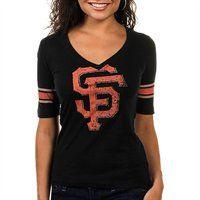 San Francisco Giants Women's Trainer V-Neck T-Shirt