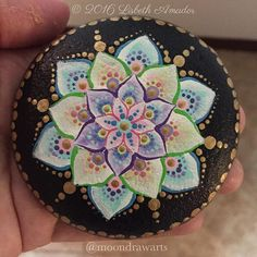 I'm in love with this one #moondrawarts #mandala #mandalas #paintedrocks #art #rocks #inktober #peace #love #meditation #artybus
