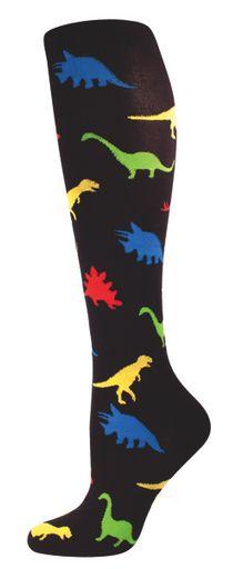 Women's Novelty Knee High Socks - Dinosaur From Socksmith Designs