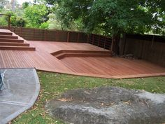 Split level decking