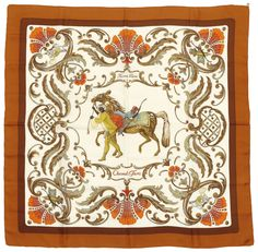 Hermes Silk Scarf Cheval Turc from Green Country Estates Exclusively on  Ruby Lane ce38a94d8d4