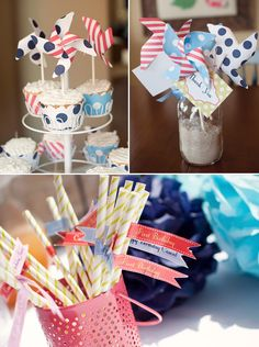 pinwheel-straw-flags navy and pink