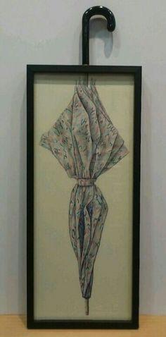 Umbrella draw/Paraguas de Barbara y Miguel By María Reboredo