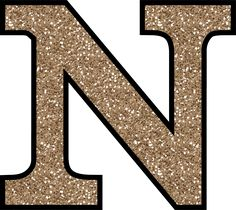 Glitter Without The Glue! Free Digital Printable Alphabet to Download: Glitter Letter N