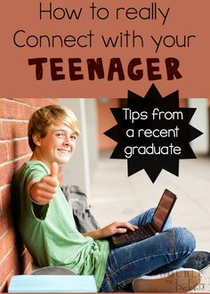 This was written so well! AWESOME TIPS! How to really Connect with your teenager written by someone who graduated from high school just a couple years ago.