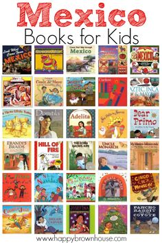 Mexico Books for Kids--great book list to go with studying world cultures Mexico Cinco de Mayo travel geography and more. Includes fiction and nonfiction. Perfect for a Mexico unity study in the classroom or homeschool. Spanish Lessons, Teaching Spanish, Preschool Spanish, Learn Spanish, Teaching Resources, Mexico For Kids, Mexico Culture, Fiction And Nonfiction, Fiction Books