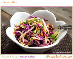 Apple and cabbage slaw with light cider vinaigrette - went well with BBQ pulled pork sandwich... Next time, buy shredded carrots--much easier!